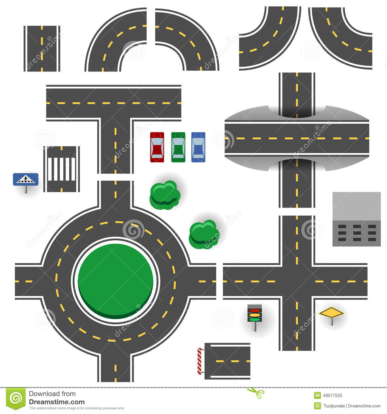 Road Parts Stock Vector Image 49517525