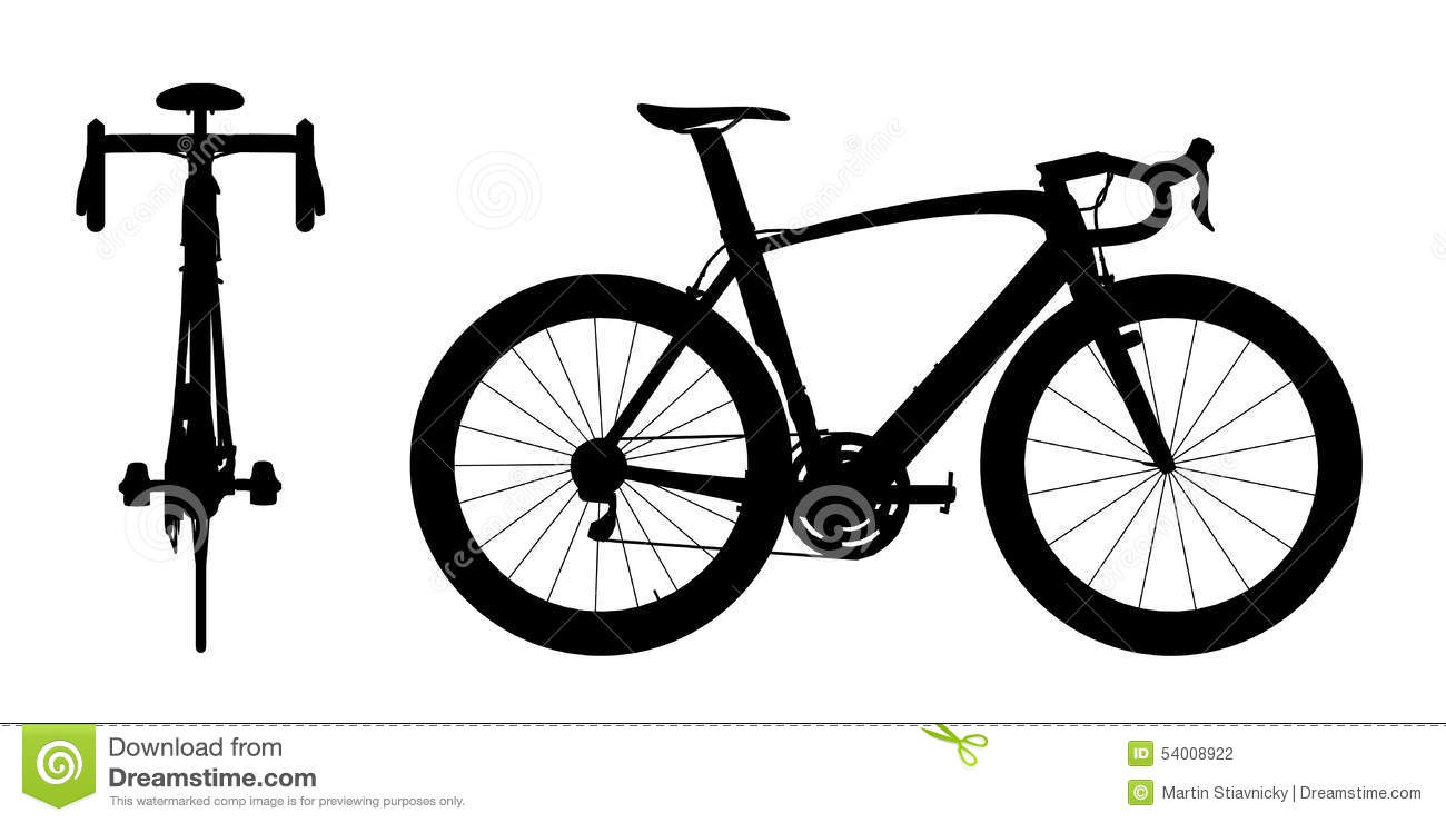 Road Racing Bike Silhouette 2in1 A Stock Illustration Illustration Of Aerodynamic Cycle 54008922