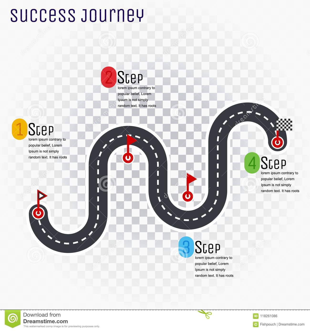 6 Steps To Planning A Successful Building Project: Roadmap Timeline Infographic Design Template, Key Success