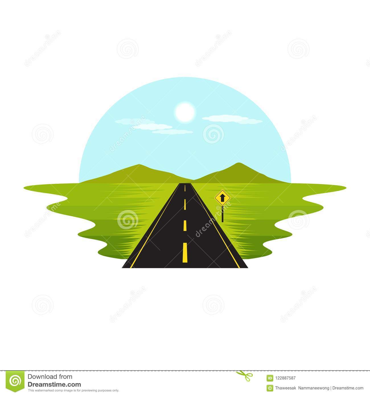 Road Route on The Way Day and Sign Landscape