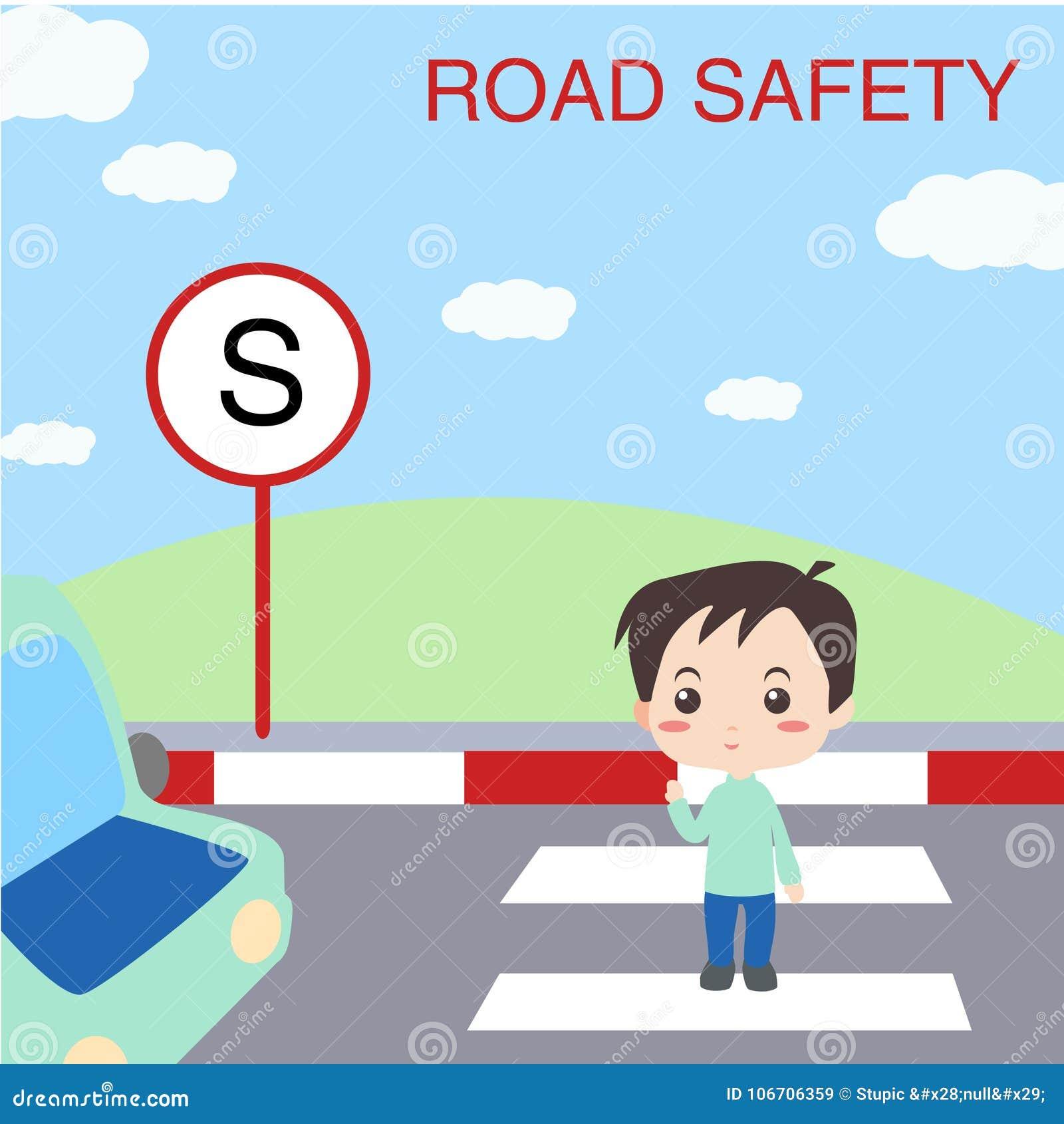 Set of children teaching road safety traffic vector image on VectorStock |  Preschool pictures, Child teaching, Transportation preschool