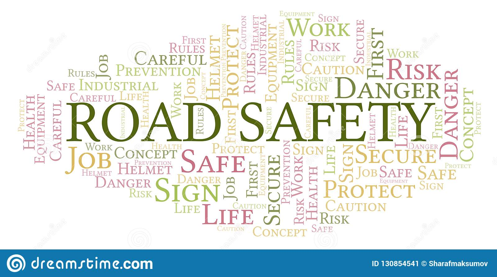 Road Safety word cloud.