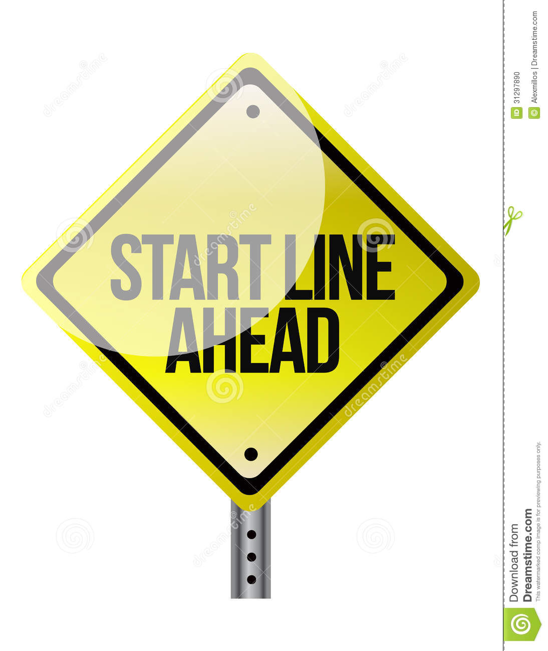 A road sign announcing the start line coming up stock for How to start a home decor line
