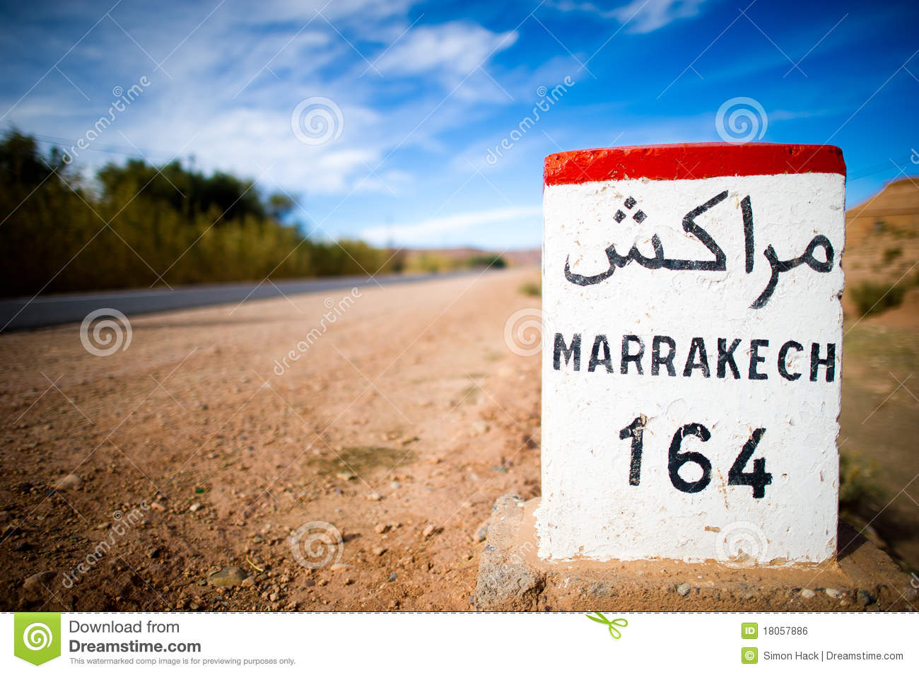 Road sign in the atlas mountains,morocco