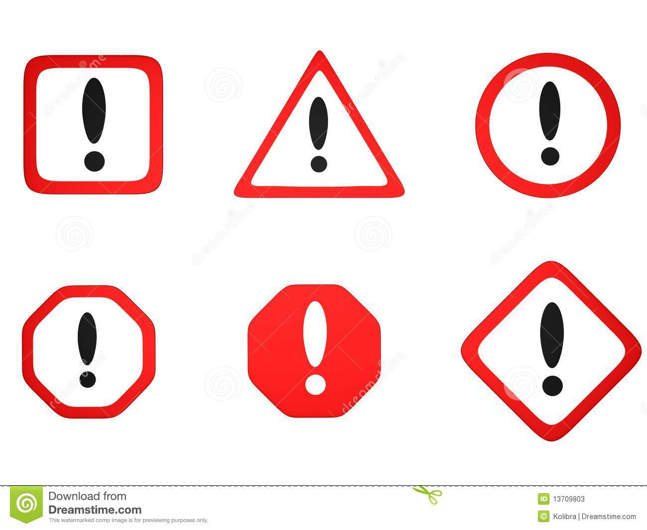 Road Warning Signs And Their Meanings A road sign with exclamation