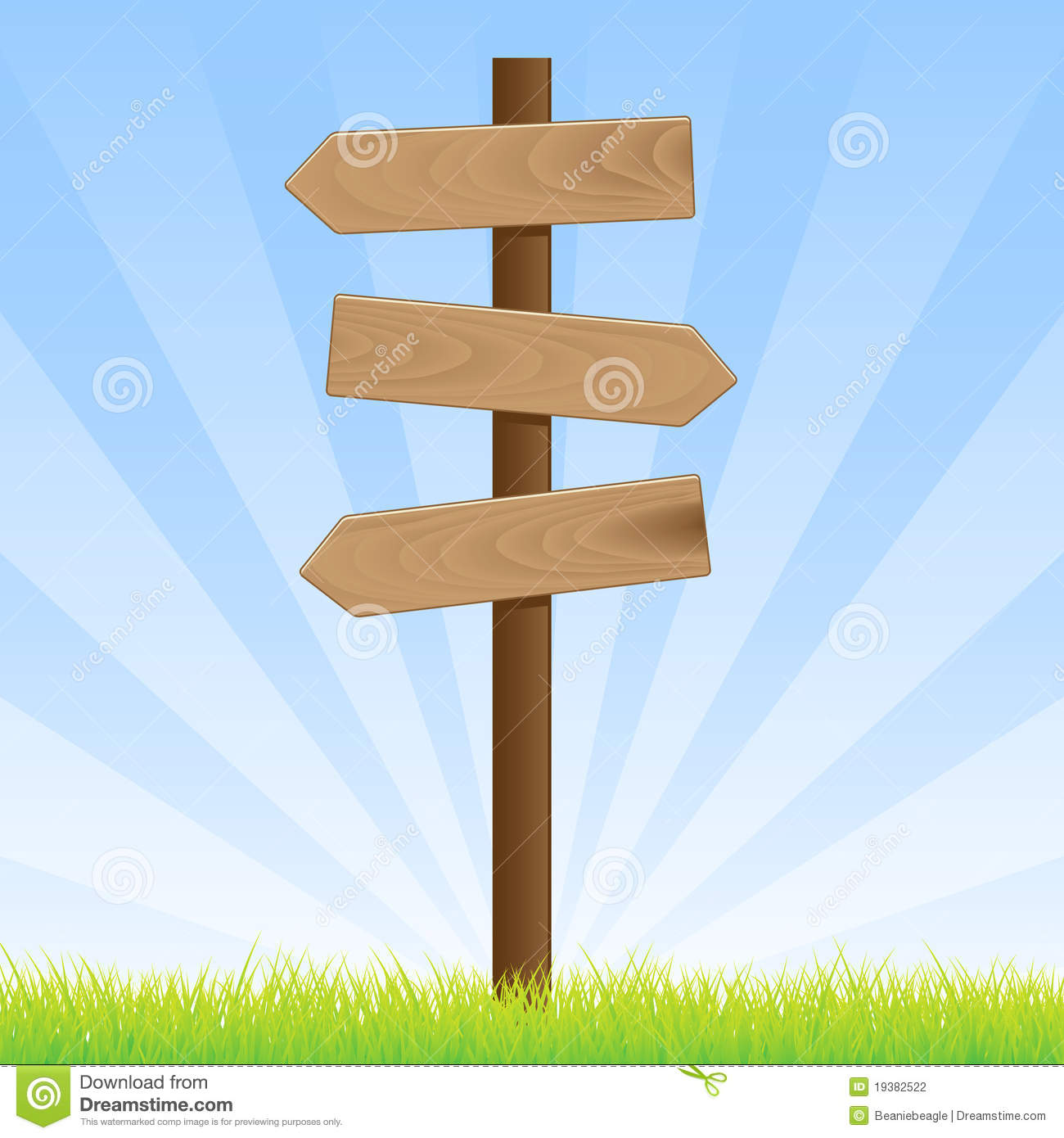 Road Sign Post Stock Vector Illustration Of Blue Brown