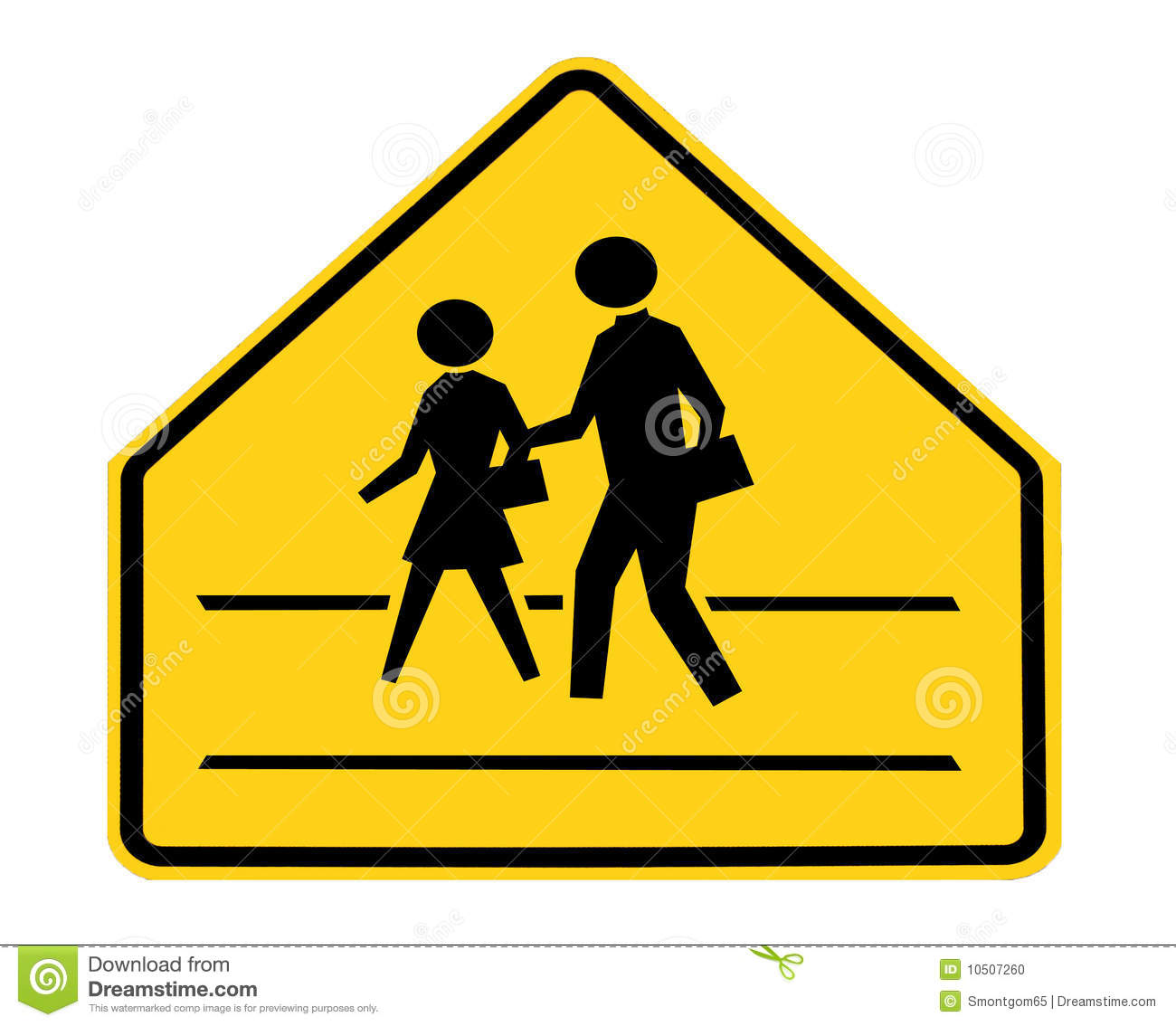Students Crossing Ahead Sign Royalty-Free Stock Photo ...