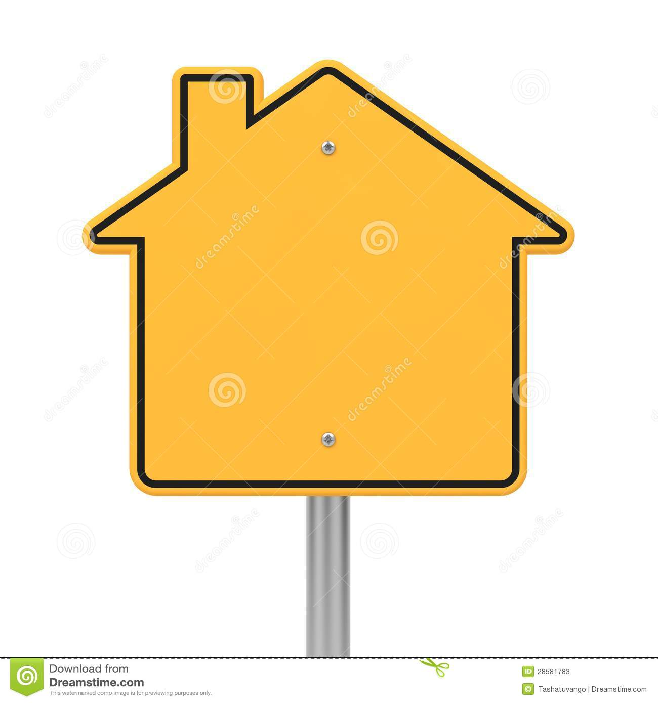 Road Sign in Shape Houses.