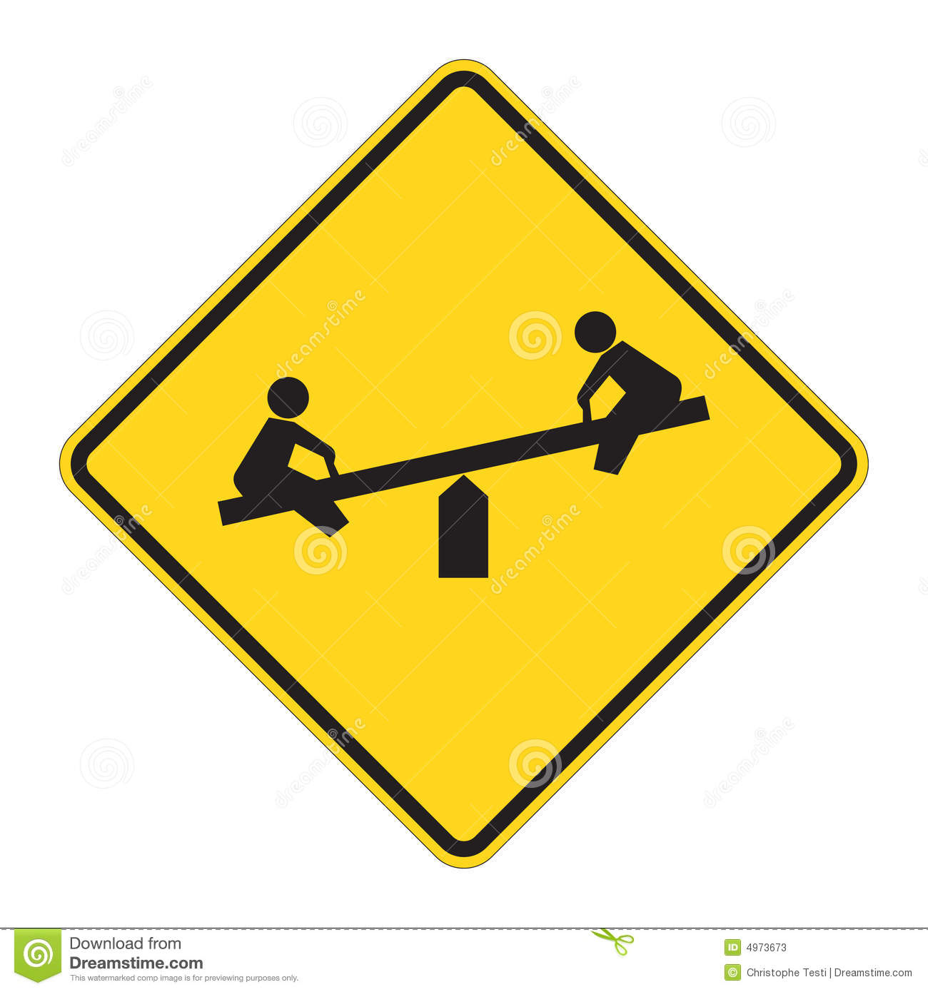 Road Sign Warning - Playground Stock Photos - Image: 4973673