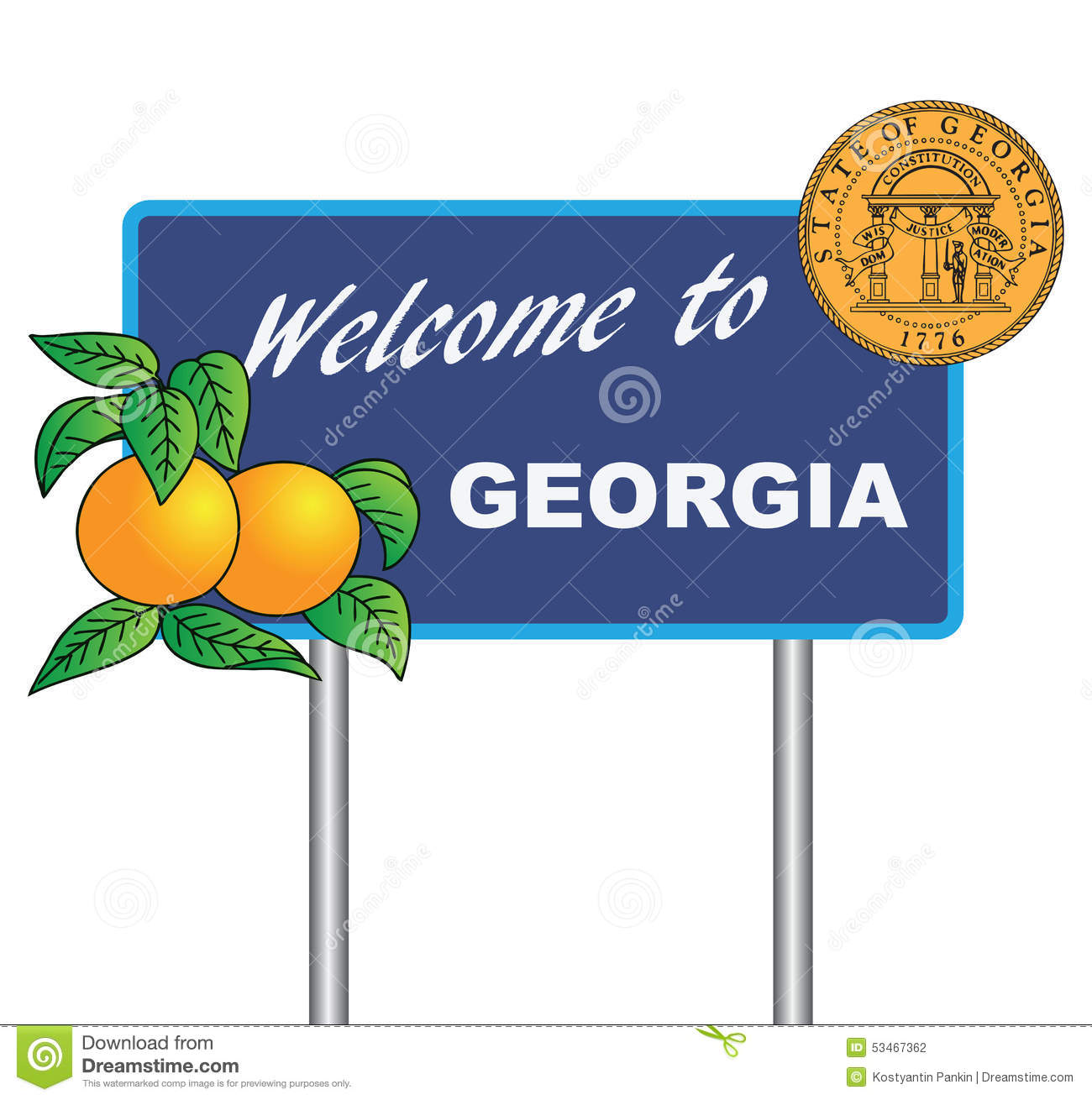 Stock Quote Southern Company: Road Sign Welcome To Georgia Stock Vector