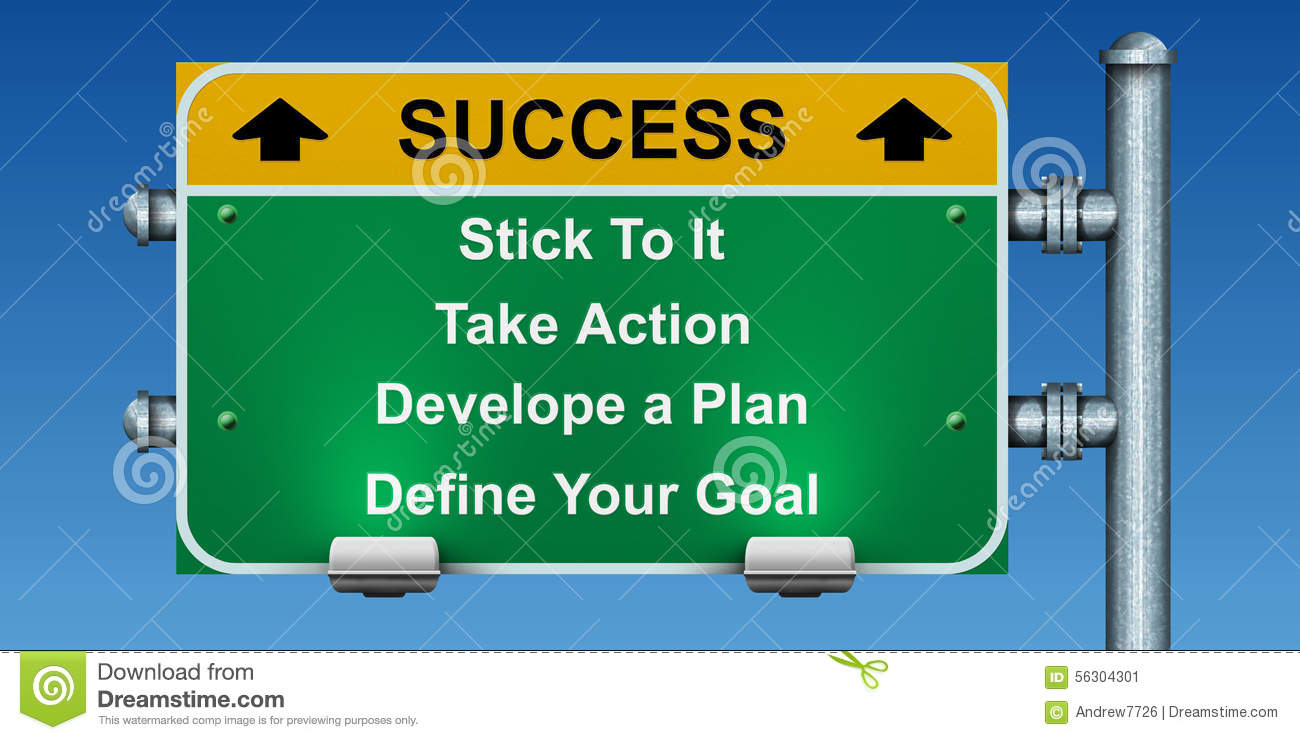 Road signs to success.