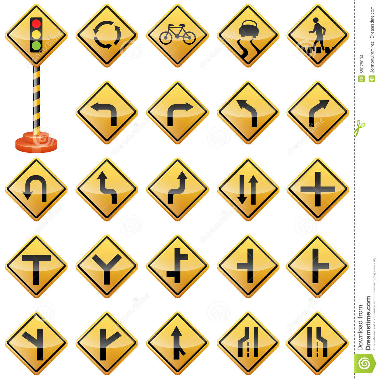 Vector illustration of road signs best for transportation safety travel signs and symbols concept