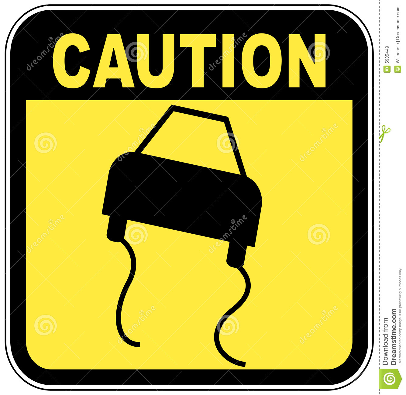 Road Slippery Sign Royalty Free Stock Images - Image: 5935449