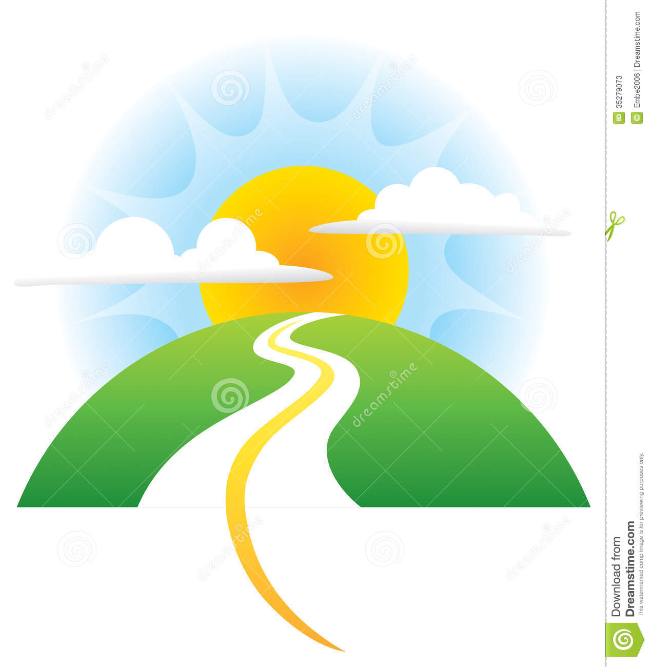 Road Sun Logo Stock Photos Image 35279073