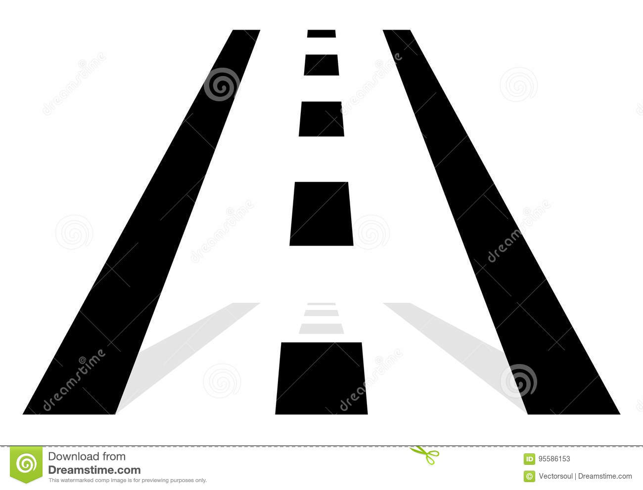 Road Symbol, Road Icon. Straight Road In Perspective. Traffic, T ... for Straight Road Vector Free Download  45ifm