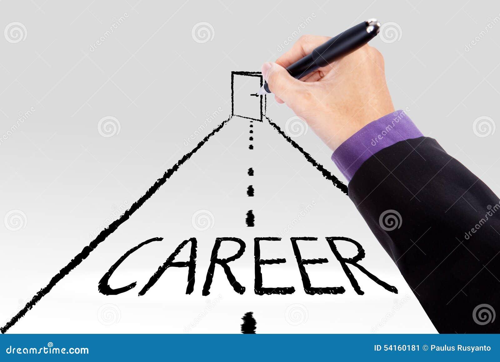 road to get the career door stock photo image  road to get the career door
