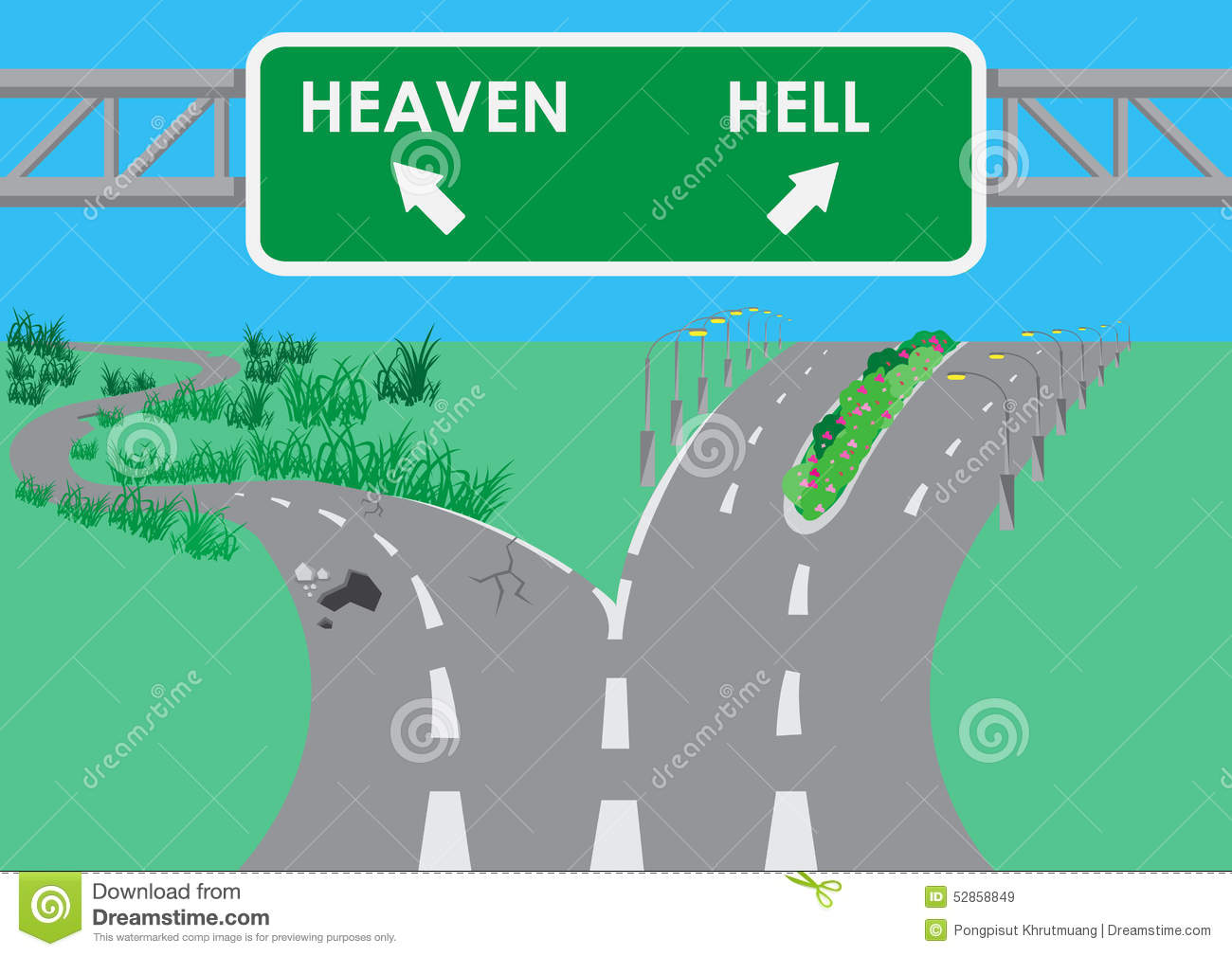 Image result for Photos wide road that leads to Hell