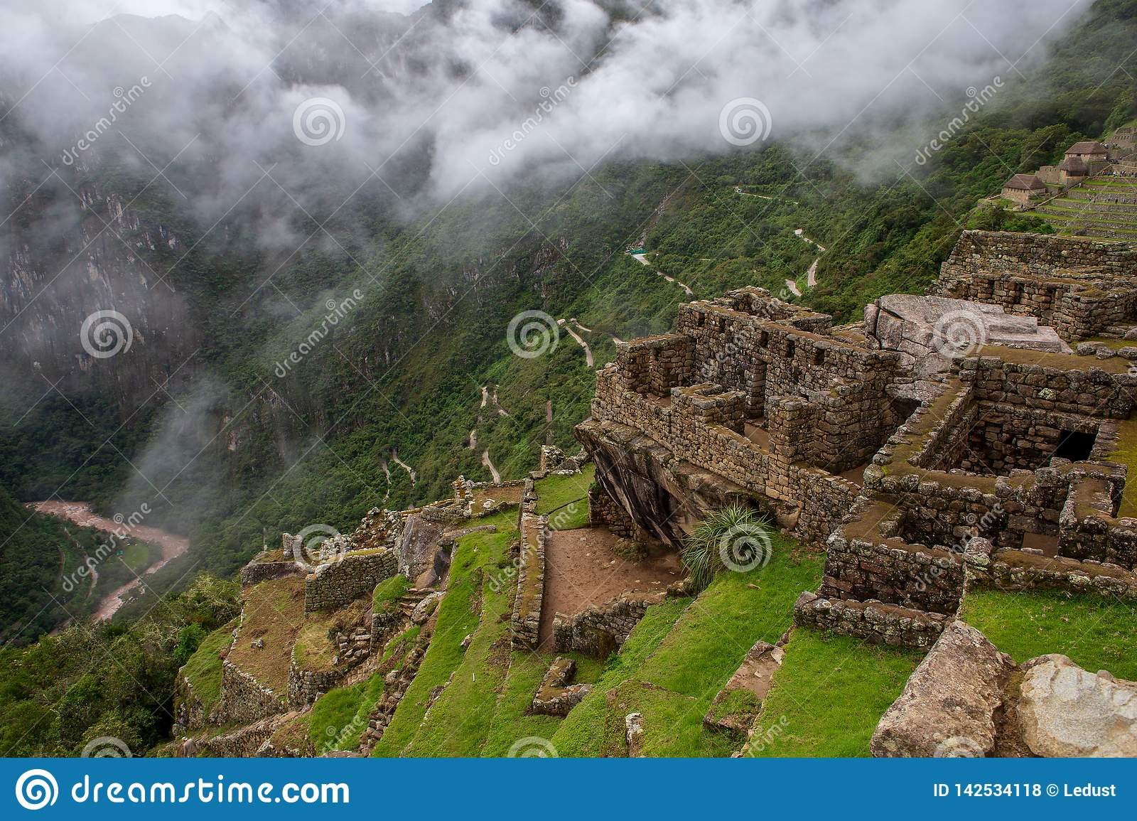 Road to Macchu Picchu as seen from the citadel itself on march 15th 2019