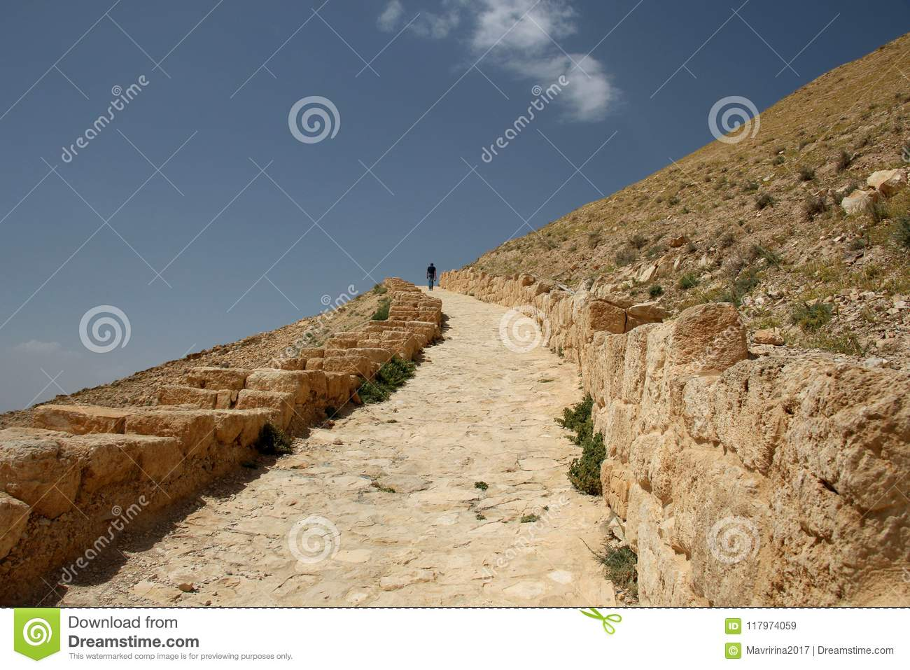 road to the machaerus and herod castle ruins jordan place of e