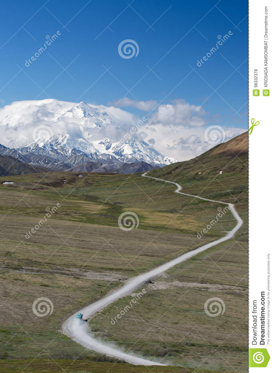 Road to Mt. McKinley