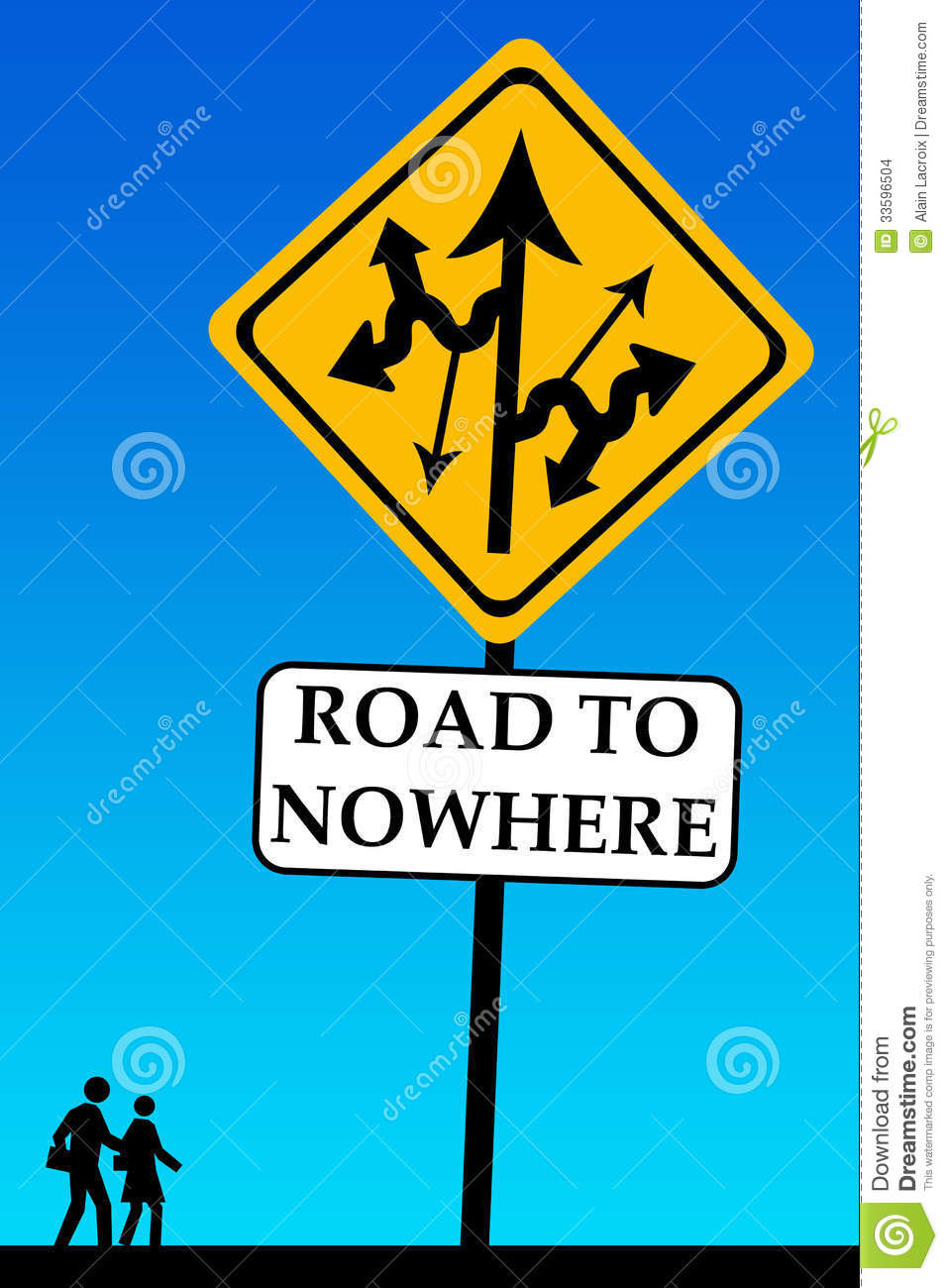 Go To Www Bing Comhella Www Bing Com: Road To Nowhere Stock Illustration. Illustration Of Change