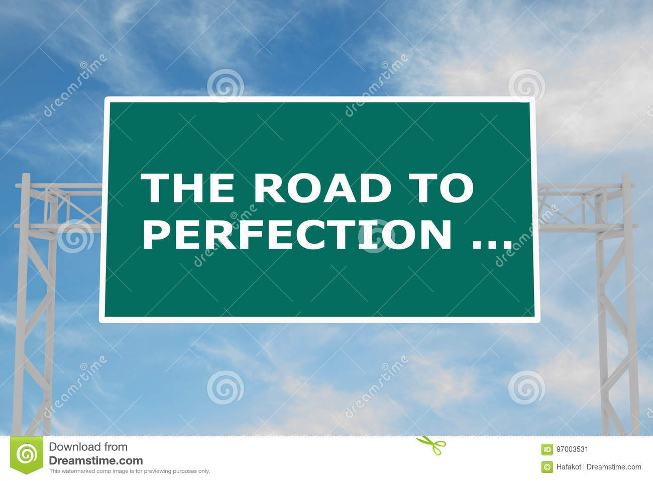 The Road To Perfection … concept