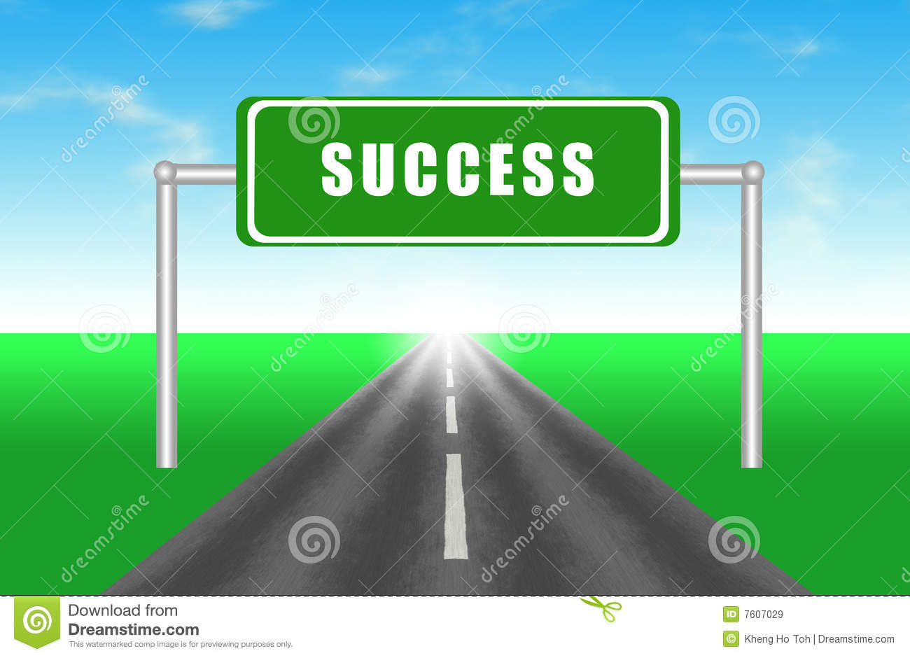 Road To Success Royalty Free Stock Images - Image: 7607029