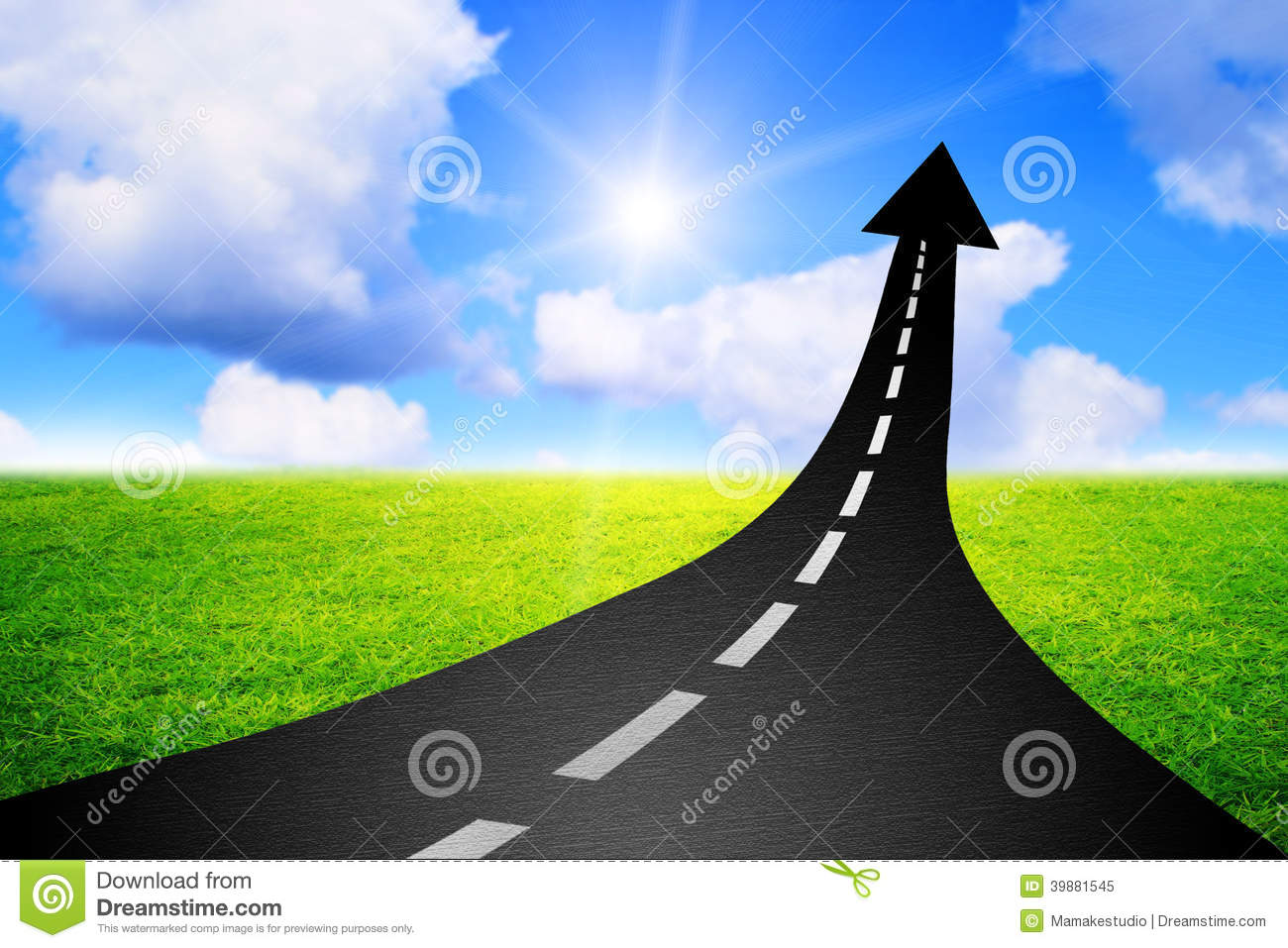 Highway 9 Auto Sales >> Road To Success Highway Road Going Up As An Arrow Stock Illustration - Illustration of business ...