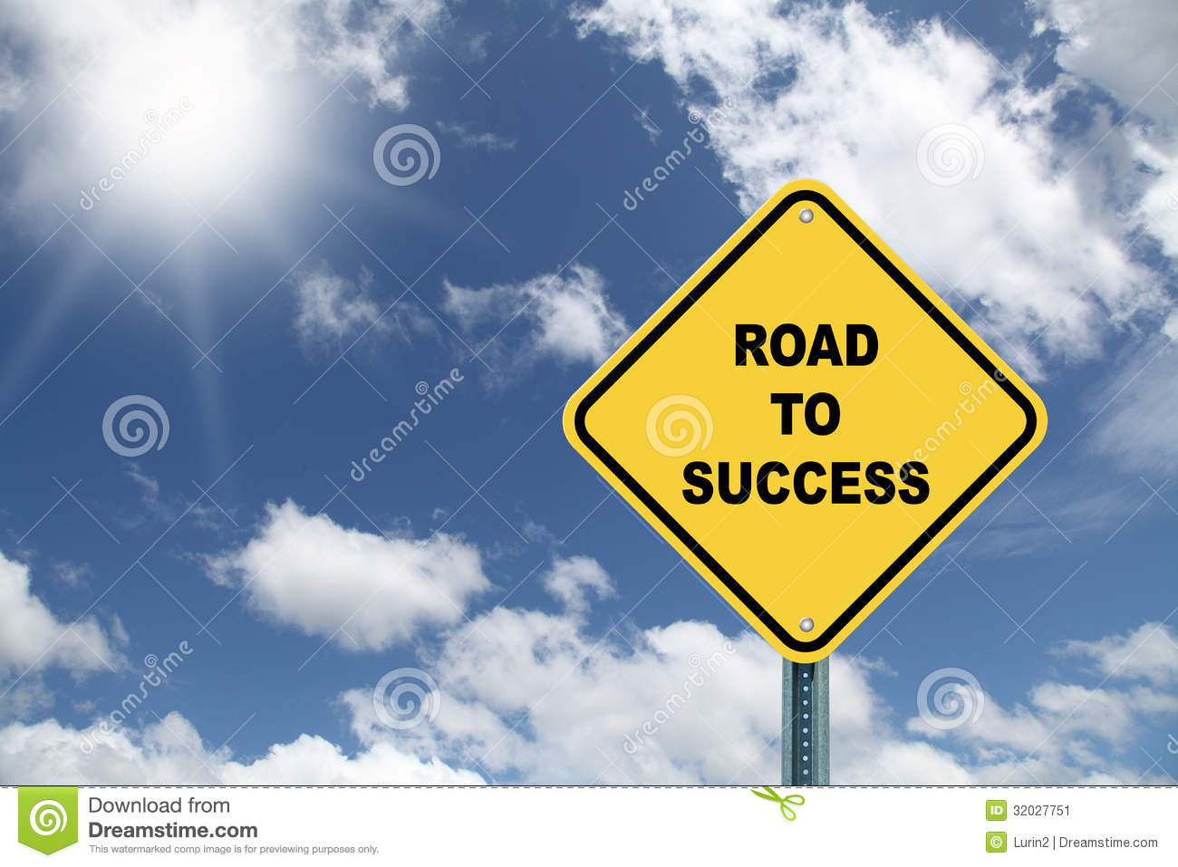 Road To Success Sign Stock Image - Image: 32027751