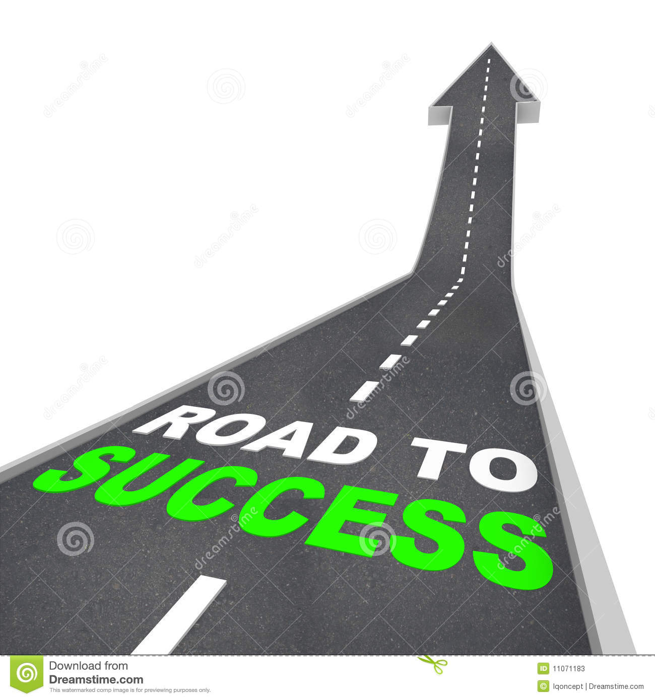 Road To Success - Up Arrow Stock Photos - Image: 11071183