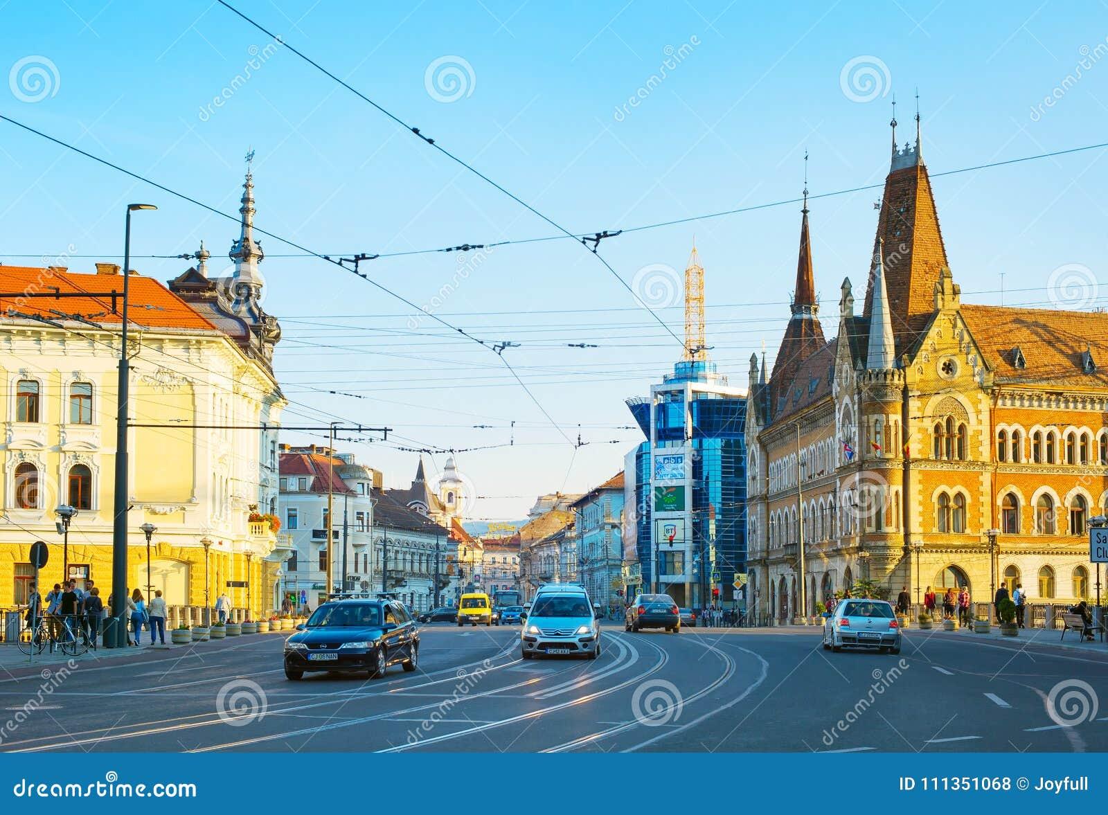 Road traffic Cluj Napoca Romania