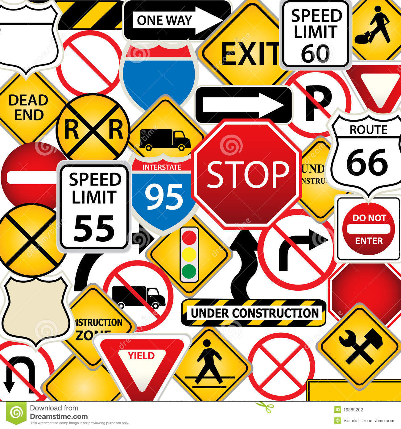 Road And Traffic Signs Stock Photography - Image: 19889202