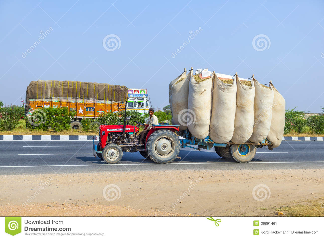 Road Transport In India Editorial Photo
