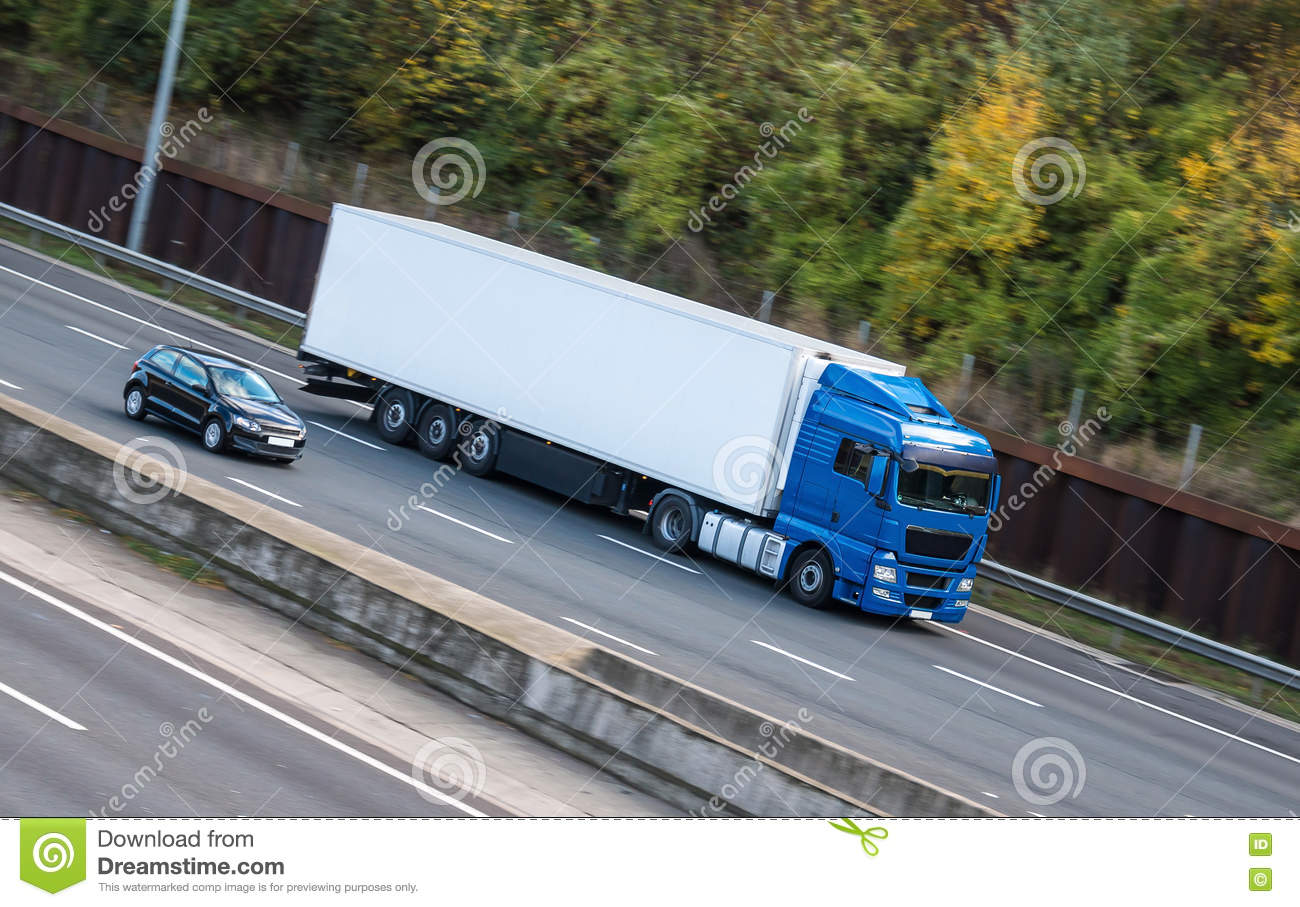 Road transport - lorry on the motorway