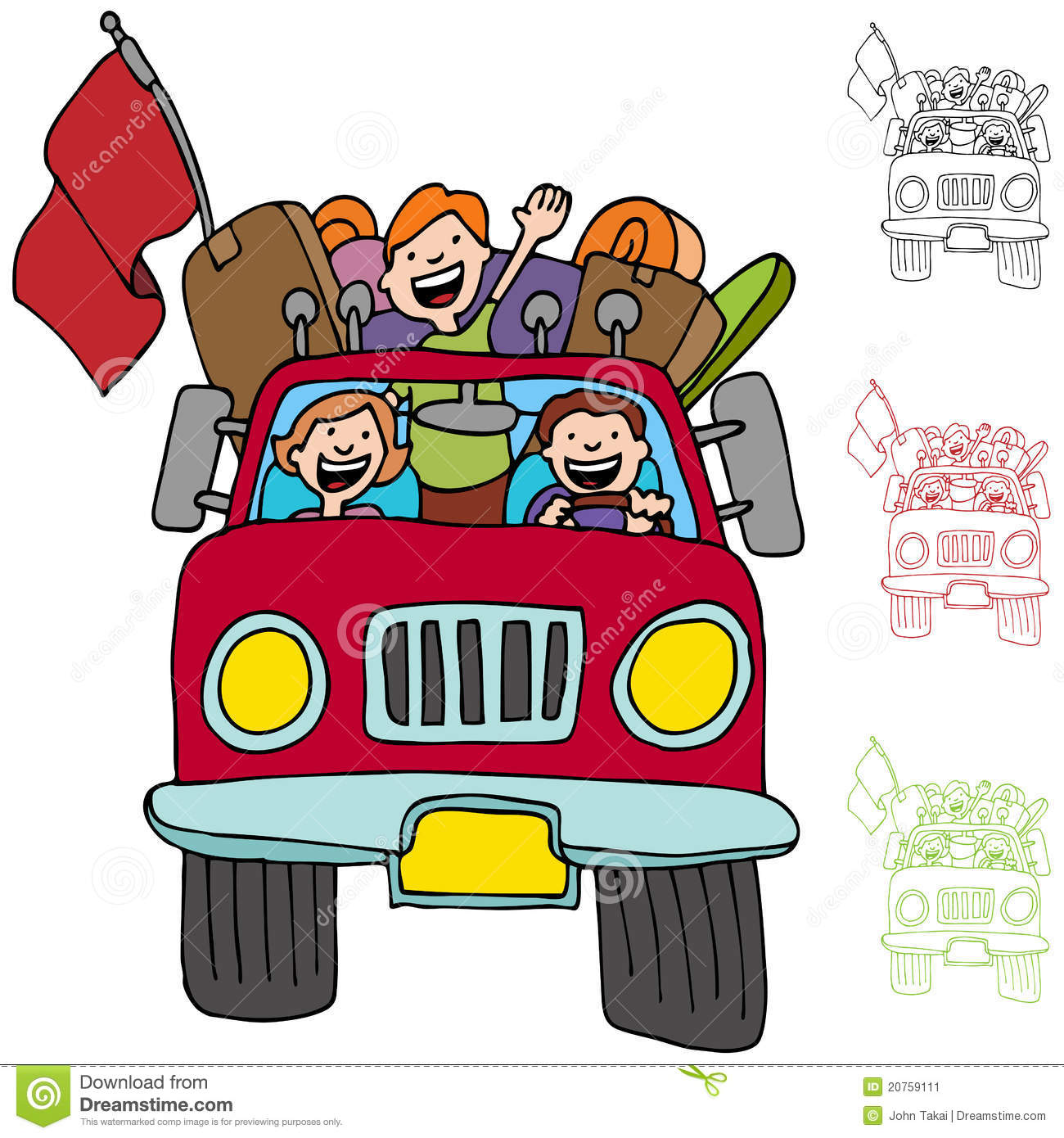 Road Trip Pickup Truck Family Stock Image Image 20759111