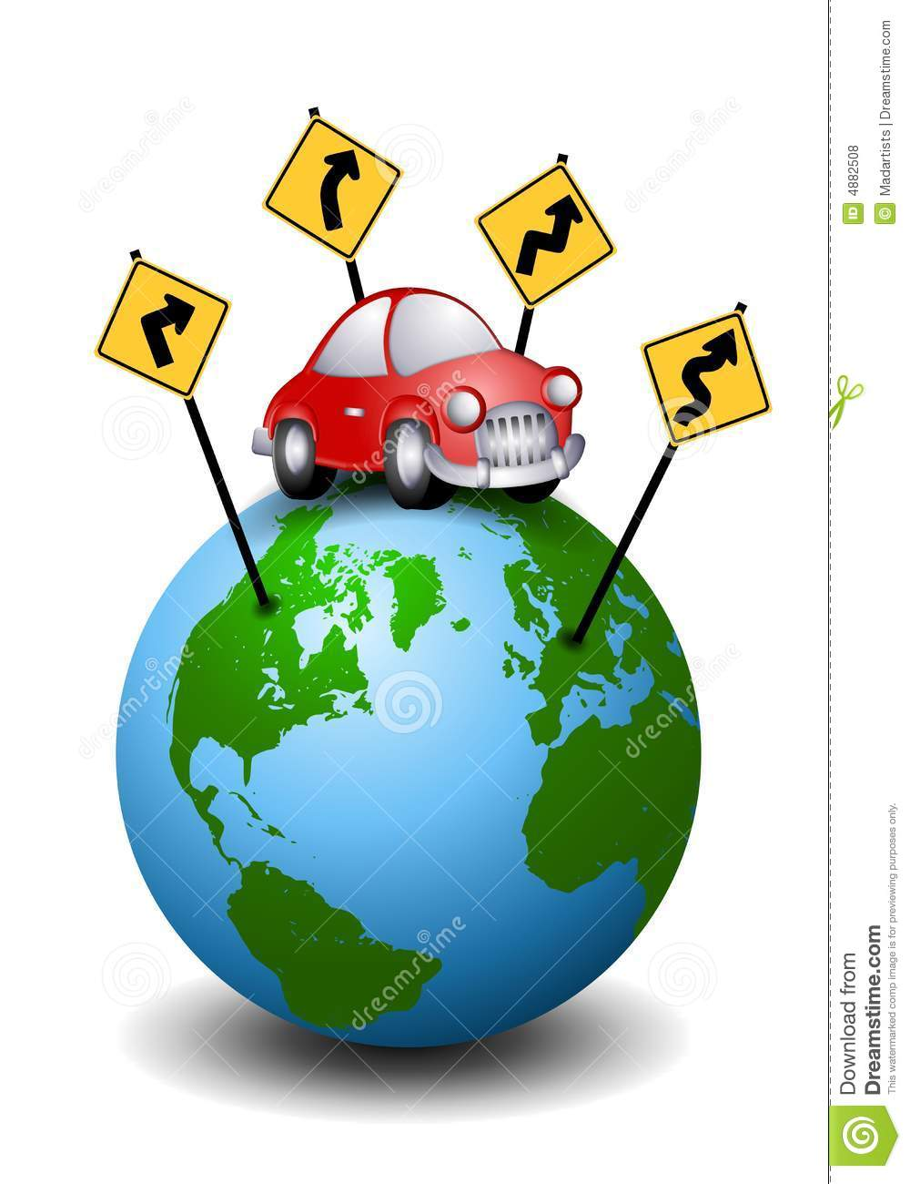 Road Trip Travel Directions Stock Vector - Illustration of