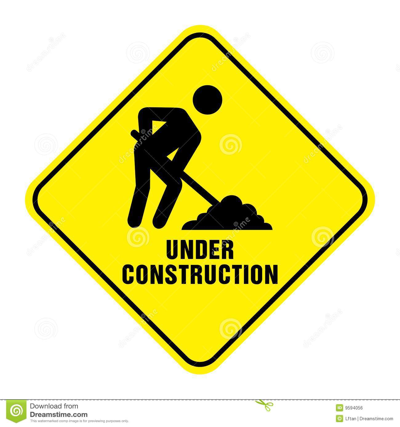 Road Under Construction Sign Royalty Free Stock Image - Image: 9594056