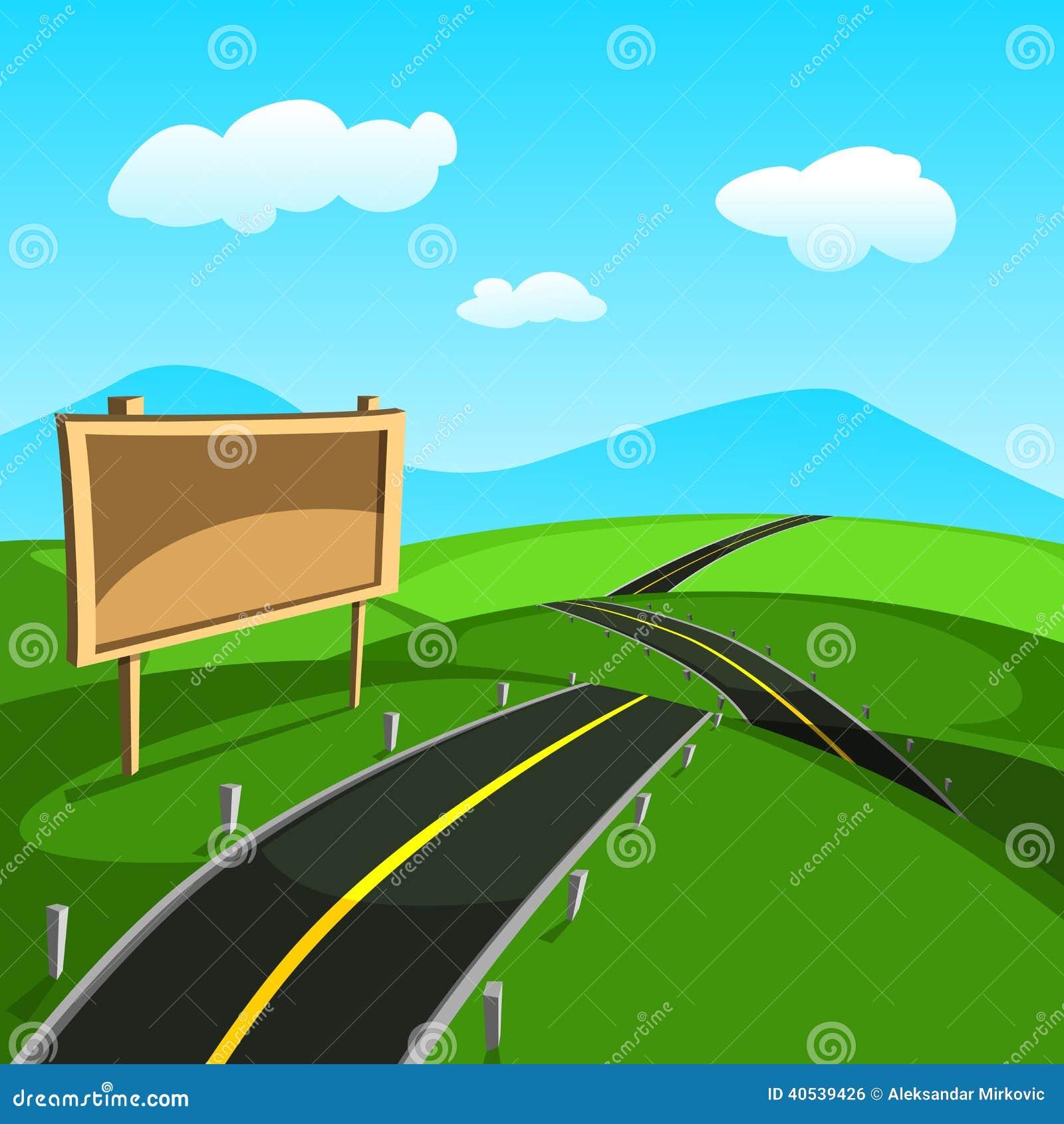 Road Vector Stock Illustration Of Season Backdrop