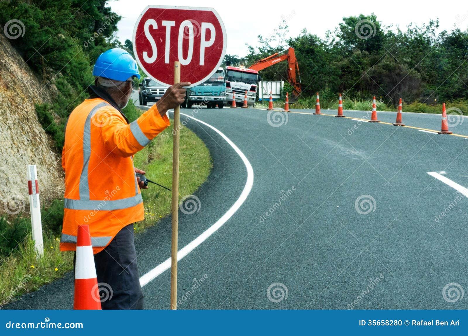 road work editorial image