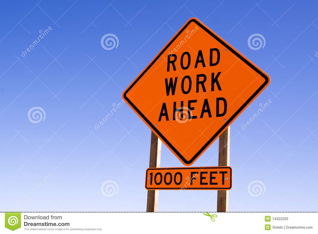 Road work sign stock image  Image of road, caution, drive
