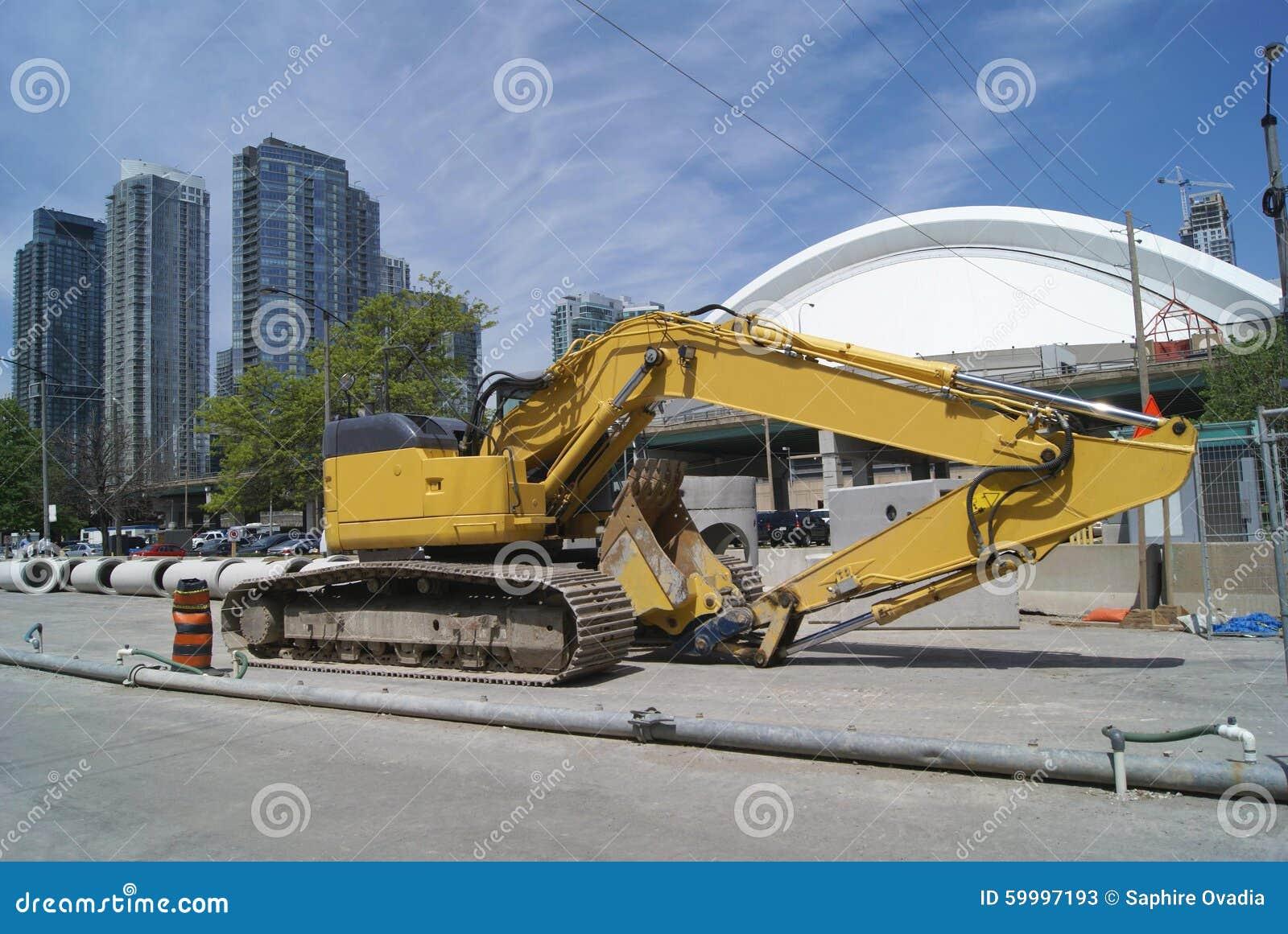 Road work vehicle hydraulic excavator digger