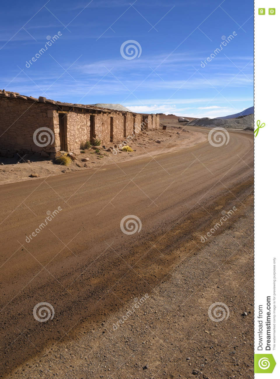 A road worker s house in the middle of the desert