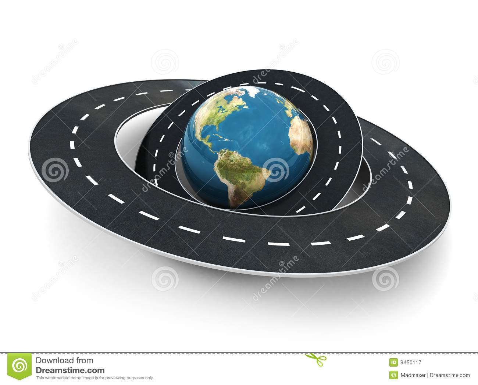 Roads Around The World Stock Illustration Image Of Around