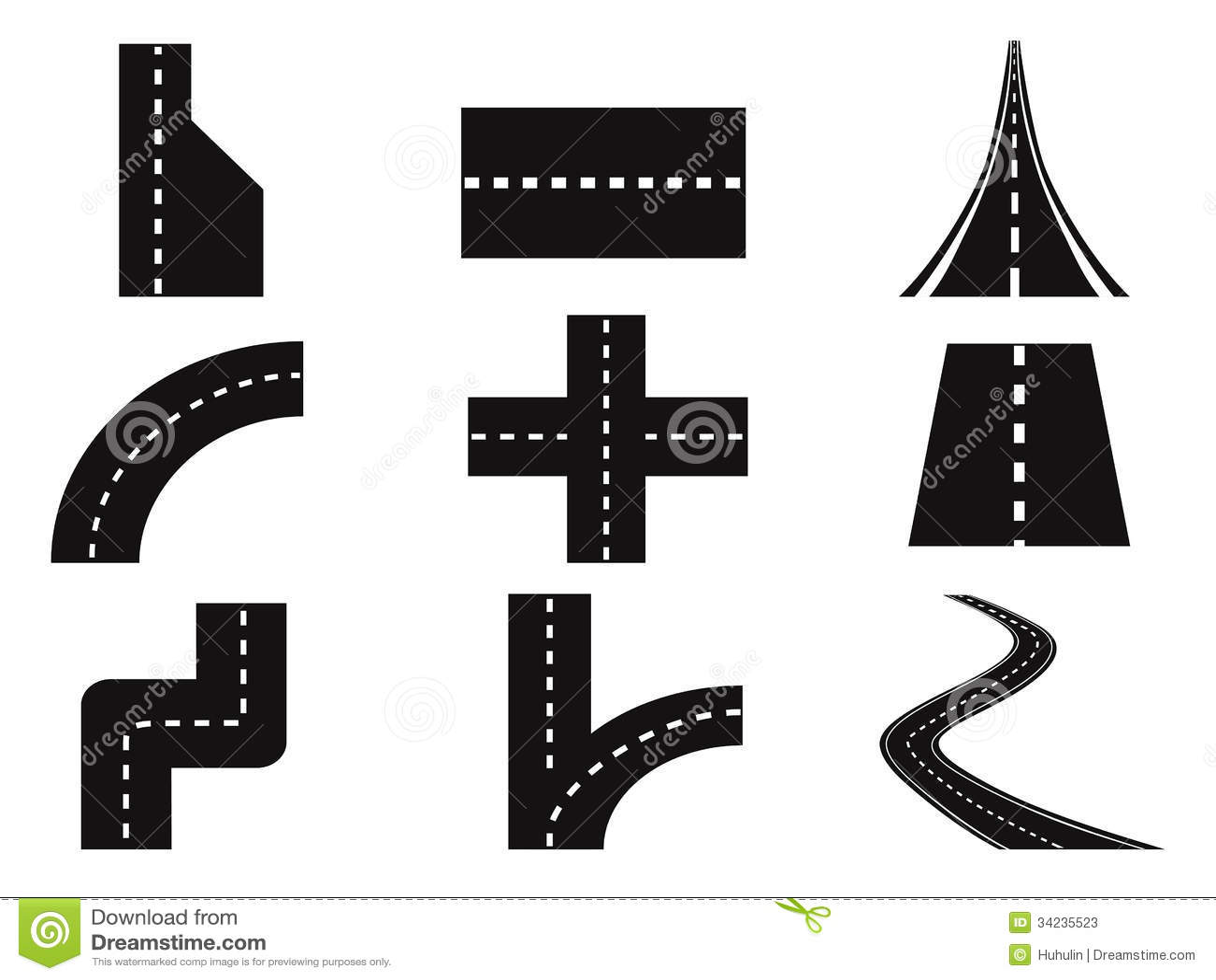 Roads Vector Set Stock Photos Image 34235523