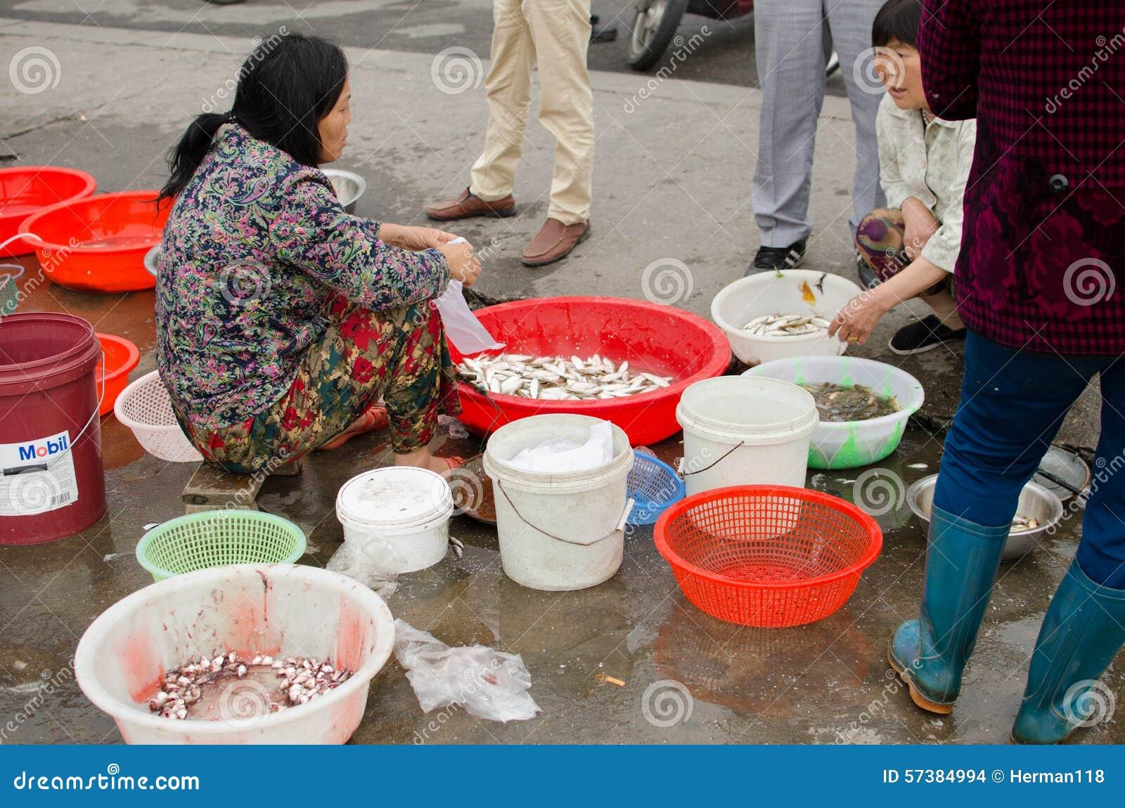 Roadside fish market editorial stock image image 57384994 for River fish market
