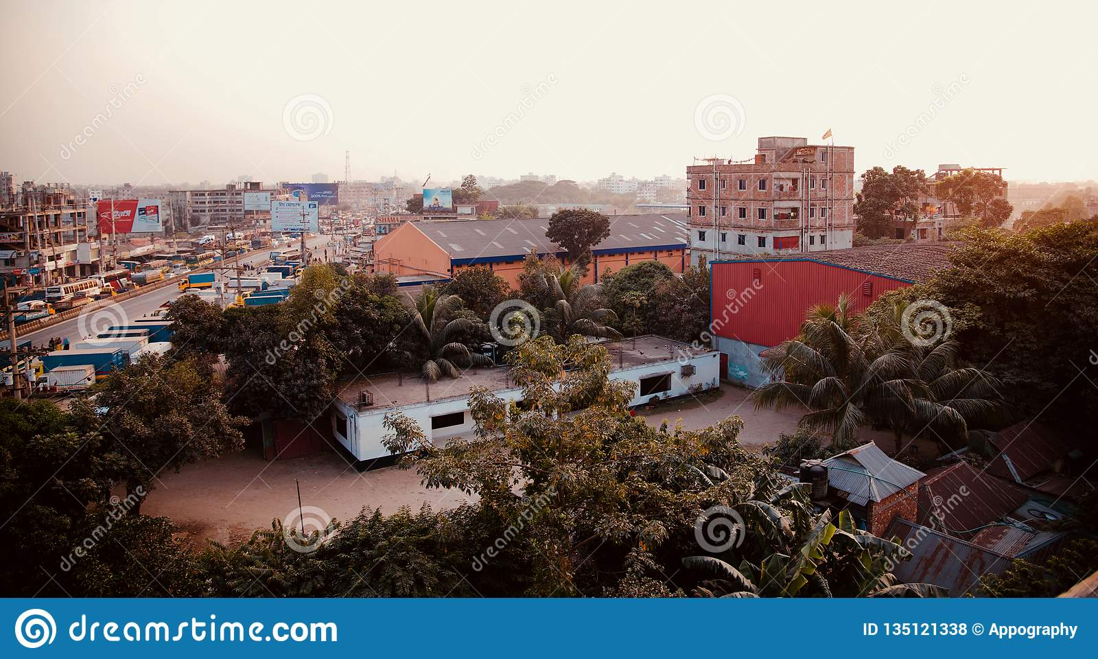 Architectural buildings in Dhaka city