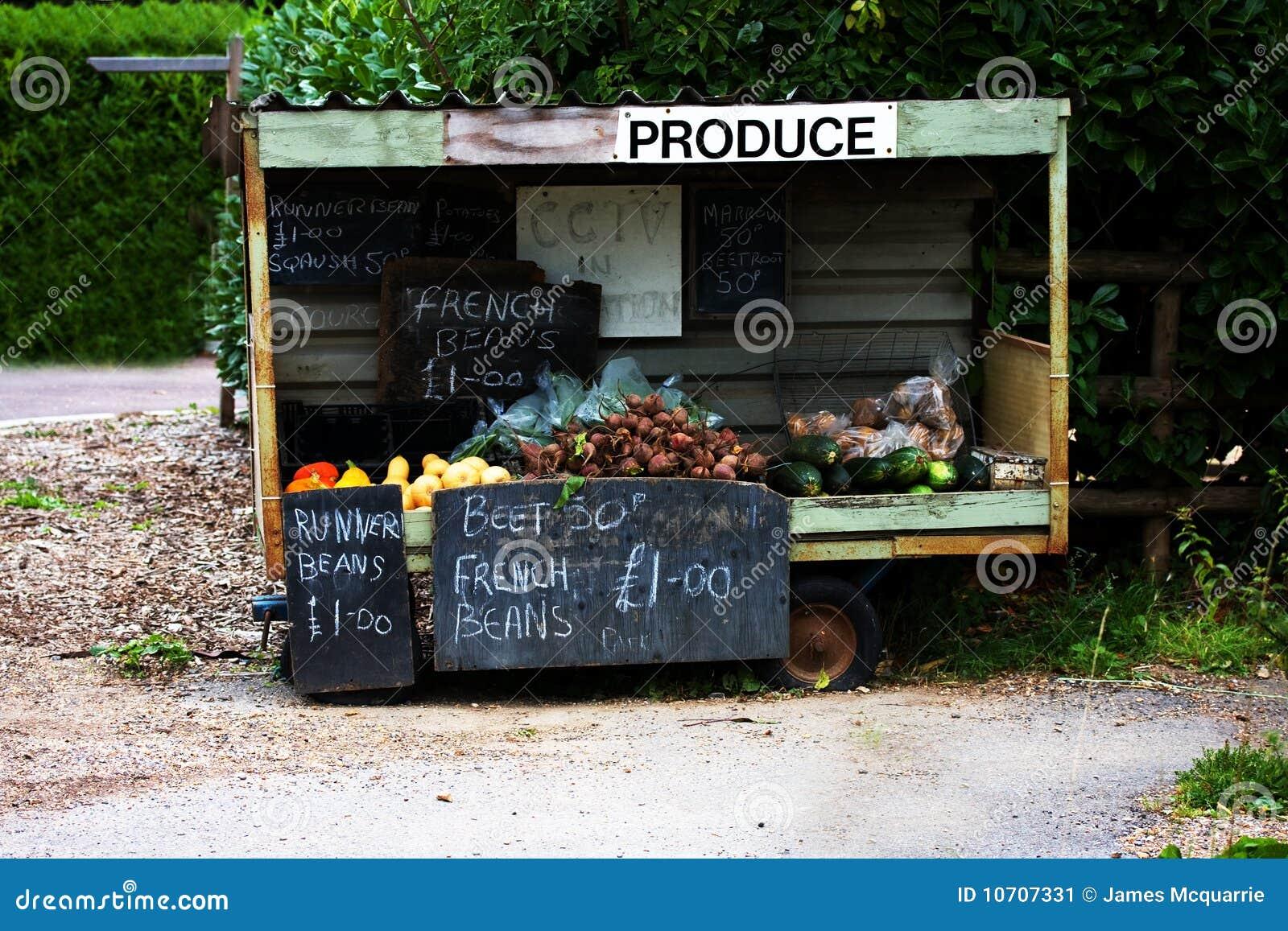 Roadside Stand Designs : Roadside produce cart stock image