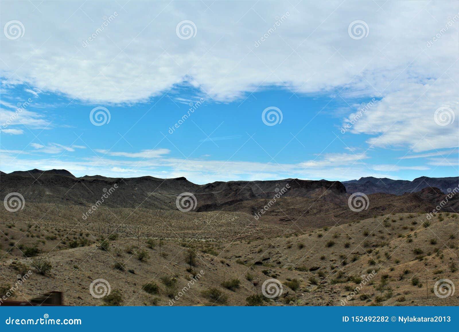 Scenic landscape view Las Vegas to Phoenix, Arizona, United States