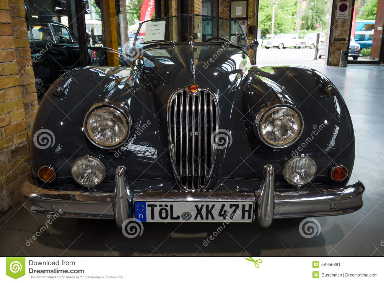 Download The Roadster Jaguar XK140. Editorial Photo. Image Of 28th    54655891