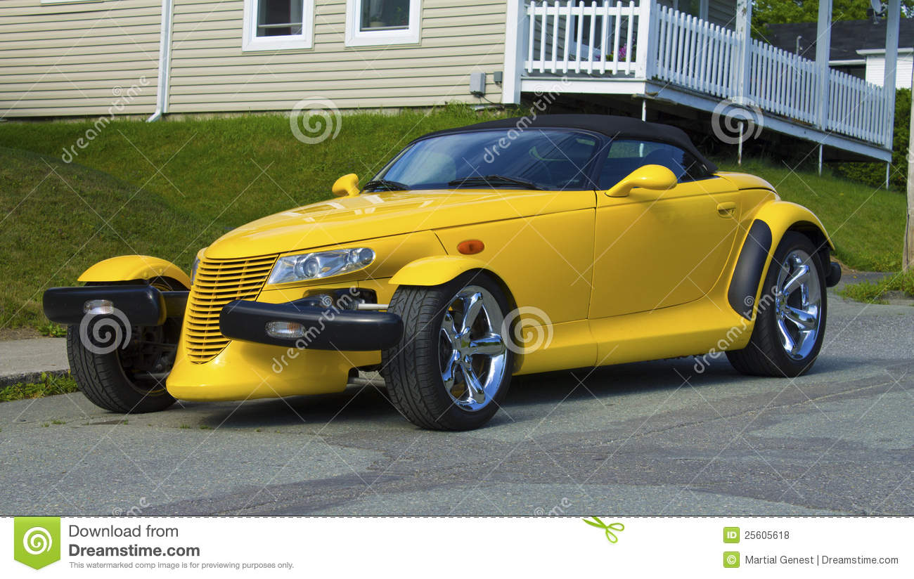 Roadster Jaune Photo Stock 233 Ditorial Image Du Dessus